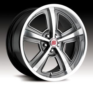 Black Carroll Shelby CS69 Wheels Rims 2005 2012 Mustang GT500
