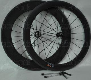 Bike Bicycle 60 88mm Tubular Wheels Wheelset 3K Glossy Finish