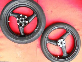 Monster 696 Marchesini Aluminum Black 3 Spoke Wheels w Tires