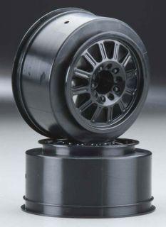 Rulux Black Rear Rims for Traxxas Slash 2WD # 3322B Wheels 12mm Hex