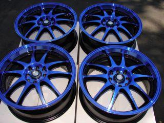 4x114 3 Blue Effect Wheels Yaris Civic G5 G3 Forenza Lancer 4 Lug Rims