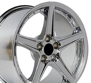 Single 18x10 Chrome Saleen Wheel Fits Mustang® 94 04