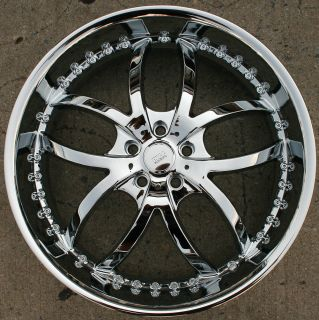 Bigg Style 406 22 Chrome Rims Wheels Nissan Maxima Altima 22 x 8 5 5H