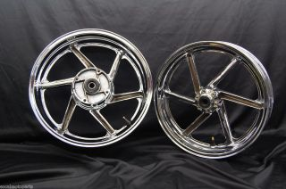 96 97 Honda CBR 900rr 900 rr front rear chrome rim rims wheels set