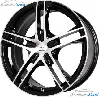 15x7 Verde Protocol 5x115 5x100 +40mm Gloss Black Wheels Rims Inch 15