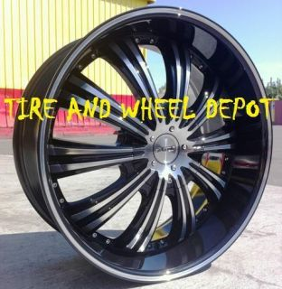 26 inch D909 B Rims and Tires Charger Magnum Chrysler 300 Cherokee