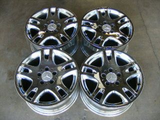 16 MERCEDES BENZ WHEELS CHROME RIMS OEM E320 E430 E500 AMG 96 97 98 99