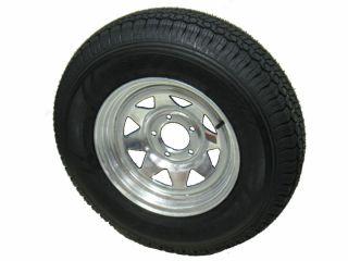St205 75D14 LRC Trailer Tire 14x5 5 5 Bolt Galvanized Spoke Wheel Rim