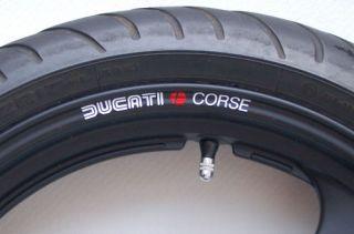 Retro Ducati Corse Wheel Rim Decals 1198 SP Hypermotard
