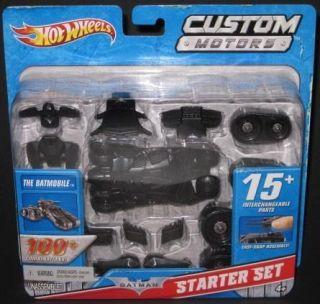 HOT WHEELS BATMAN Custom Motors Batmobile Starter Set 100 combinations