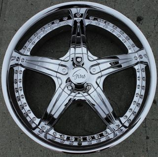 Gino 497 20 Chrome Rims Wheels GMC Yukon Denali 99 Up 20 x 8 5 6H 25