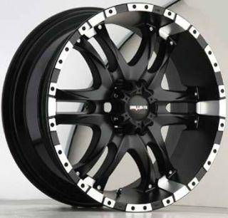 Ballistic Wheels 810 Wizard 5x150 ET14 Flat Black 4 New Rims