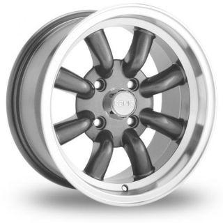 15 Konig Rewind Graphite Rims Wheels 15x7 20 4x110