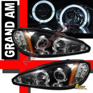 99 00 01 02 03 04 05 Pontiac Grand Am 2X Halo Rims LED Projector