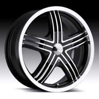 17 inch Milanni Stealth Black Wheels Rims 5x115 22
