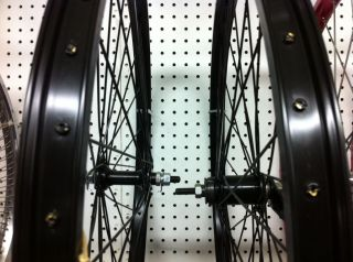 Black Heavy Duty Rim Set 26 Alloy 105g Beach Cruiser Lowrider Chopper
