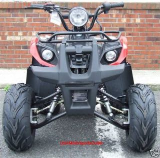 Utility 110cc ATV Quad w Foot Brake 7 Rims Remote Racks for Kids NJ