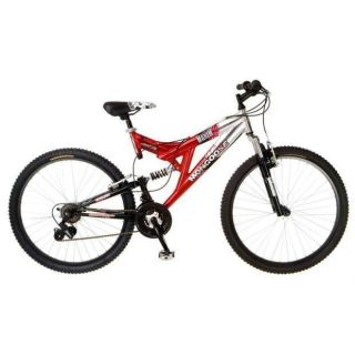 MONGOOSE MAXIM DUAL SUSPENSION MOUNTAIN BIKE 26 WHEELS RED 279 READ