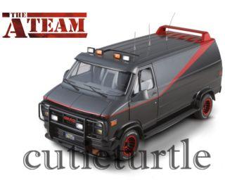 Hot Wheels Elite V7439 The A Team GMC Classic Van TV Series 1 18 Black