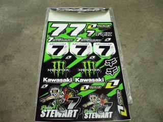 James Stewart Motocross Decals Stickers Set 106