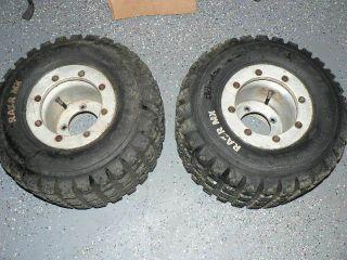 110 MX Maxxis Tires ITP Beadlock Wheels Rims Rear TRX 450r 400ex 50r