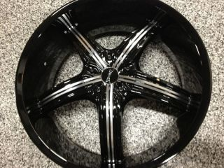 22 INCH BLACK MACHINED RIMS CHEVROLET MALIBU HHR IMPALA SS MONTE CARLO