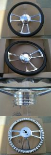 Billet Steering Wheel Billet Horn Chevy Ford Jeep Black