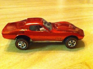 Redline Custom Corvette Hot Wheels 1968 USA Red One Owner All Original