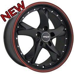 18 inch Menzari Z11 Black Wheels Rims 5x115 35 Cadillac cts DTS STS