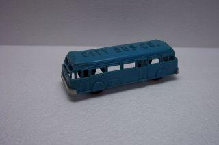 Renwal 124 Aqua Blue City Bus with Black Wheels