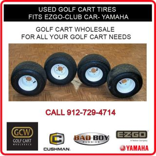 Used Golf Cart Tires and Rims EZ Go Club Car Yamaha