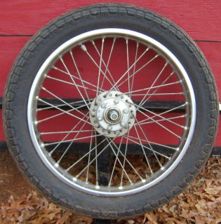 Front Motorcycle Tire with 2 15x18 inch Spoke Rim