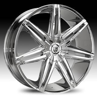 Lexani Johnson II Chrome Wheel Rim 6x5 5 6x139 7 SLX Escalade