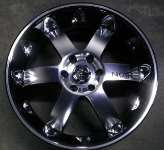 20 inch 6x127 Black Chrome Insert Wheels Rims 6 Lug GMC Envoy Chevy
