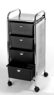 Pibbs D27 4 Drawer Storage Cart Wheels Stainless Steel Top Sides