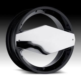 24 Wheels Rims Vision Morgana Black Navigator Wrangler