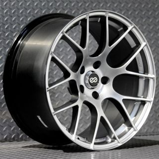 Enkei Raijin Rims Hyper Silver 18x8 5x114 3 45 Set of 4 Wheels