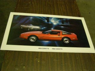 1984 Chevrolet Corvette Coupe Dealership Display Picture Cardboard