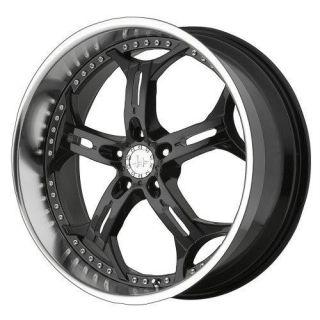 18 inch Helo HE834 Black Wheels Rims 5x120 Chevy Camaro