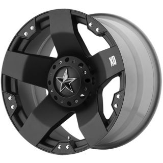 Rockstar 5x135 Expedition F150 SVT Black Wheels Rims Free Lugs