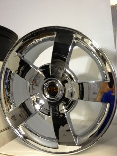 Silverado SS Chrome Factory OE Replica Wheels Rims 6x5 5 22x10
