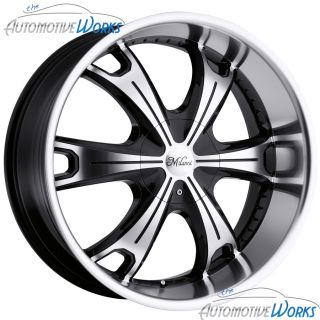 Milanni Stellar 6x135 6x139 7 6x5 5 30mm Black Machined Wheels Rims 22