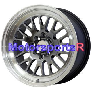 16 16x8 XXR 531 Chromium Black Wheels Rims Deep Dish Lip 4x114 3 4x4 5