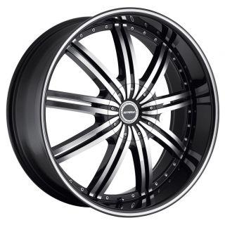 24 inch Strada Nove Black Wheels Rims 5x115 300C Charger Magnum