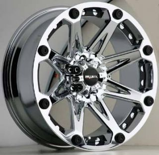 20x9 Ballistic Wheels 814 Jester 6x135 Et 12 Chrome 4 New Rims
