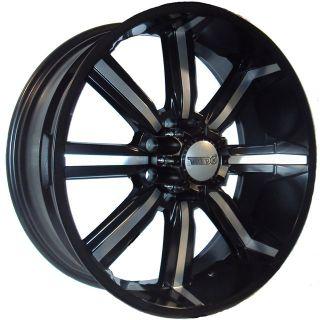 26 inch Dcenti 903 Black Polish Rims Only GMC Sierra 2500
