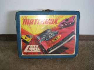 Vintage Matchbox Case w 24 Toys Hot Wheels Matchbox and Other