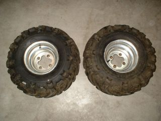 OEM Honda ATC 350X Rear Wheels Rims Maxxis Tires 22x11 9 TRX 250r 450r