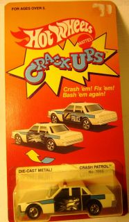 HOT WHEELS Crack ups Police car proto in proto pkg Bob Rosas