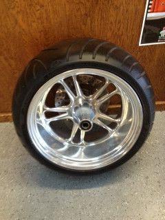 PM Chrome Billet 18 Rear Wheel 300 Harley Softail Chopper Rigid Avon